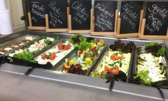 Berliner Kantine mit gesundem Essen