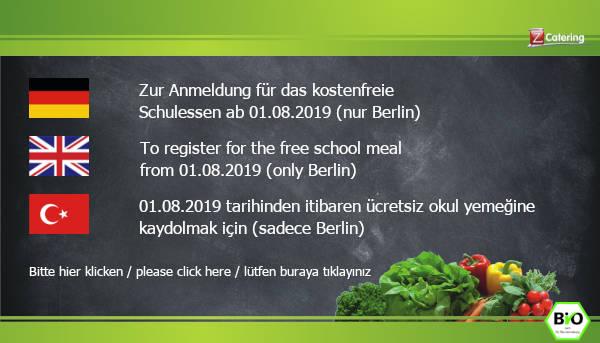 Anmeldung kostenloses Schulessen Berlin