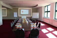 Firmenveranstaltunng Meeting mit Blockbestuhlung