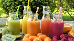 buntes Schulessen oder Essen nach Farben